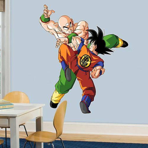 Adesivo de Parede Goku e Tenshinhan