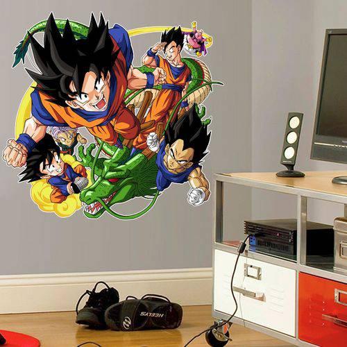 Adesivo de Parede Goku e Turma