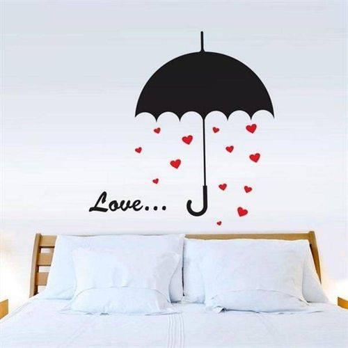 Adesivo de Parede Guarda Chuva Romantico