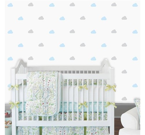 Adesivo de Parede Infantil Chuva de Nuvens Talco Granizo