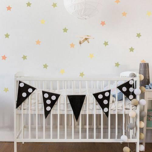 Adesivo de Parede Infantil Estrelas Verde