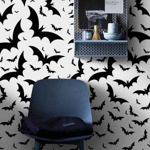 Adesivo de Parede Infantil Morcegos Voando Casa Decor