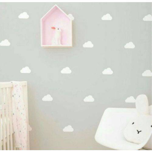 Adesivo de Parede Infantil Nuvem - 100 Nuvens 10x5cm