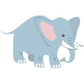 Adesivo de Parede Infantil Quarto Elefante Caminhando 82cm X 1,30m AI12039