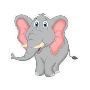 Adesivo de Parede Infantil Quarto Elefantinho Assobiador 1 M X 1,6cm AI12057