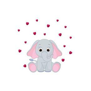 Adesivo de Parede Infantil Quarto Elefantinho Carinhoso 70cm X 70cm AI12029
