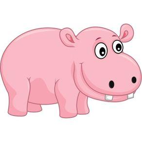 Adesivo de Parede Infantil Quarto Hipopótamo Romeu 1m X 1,5m AI12035