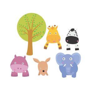 Adesivo de Parede Infantil Quarto Kit Zoo AI12009