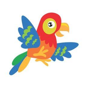 Adesivo de Parede Infantil Quarto Papagaio Caio 45cm X 50cm AI12045