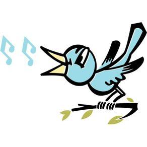 Adesivo de Parede Infantil Quarto Pássaro que Canta 45cm X 63cm AI12021