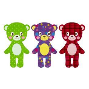 Adesivo de Parede Infantil Quarto Ursinhos Kit de Fofura AI12028