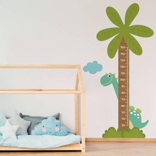 Adesivo de Parede Infantil Régua Dinossauro Baby
