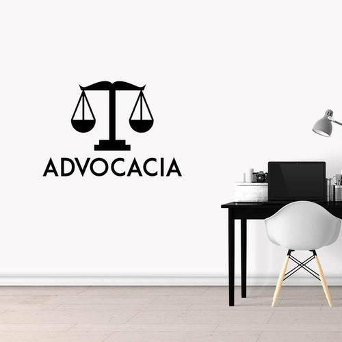 Adesivo de Parede Logo Advocacia Preto