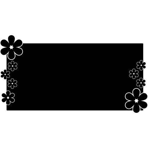 Adesivo de Parede Lousa Floral 55x104cm