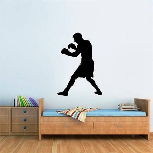 Adesivo de Parede Lutador de Boxe