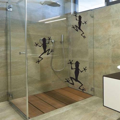 Adesivo de Parede ou Box de Banheiro Sapinhos Sua Casa Personalizada
