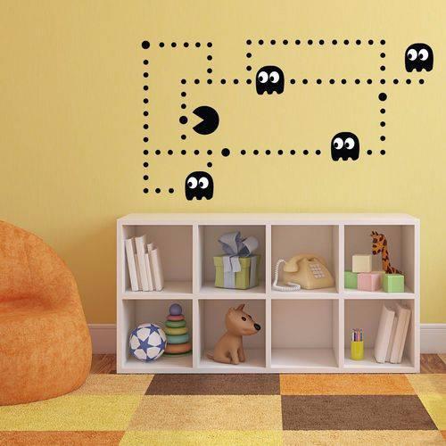 Adesivo de Parede Pac Man Game Infantil Retro