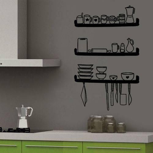 Adesivo de Parede para Cozinha Prateleiras