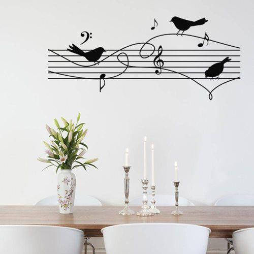 Adesivo de Parede - Pássaros Cantantes - 142an