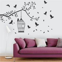 Adesivo de Parede - Recanto dos Pássaros