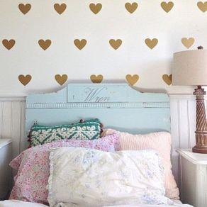 Adesivo de Parede Stickers de Coração para Quarto In Love ST150009-AO