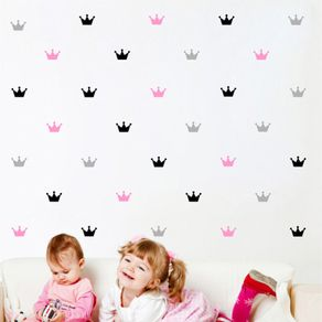 Adesivo de Parede Stickers de Coroa Quarto de Bebê Meu Reinado ST150007-AO