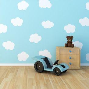Adesivo de Parede Stickers de Nuvem Branca para Quarto Infantil Meu Céu AI12063