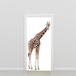 Adesivo de Porta Animal Sala Girafona PO517009