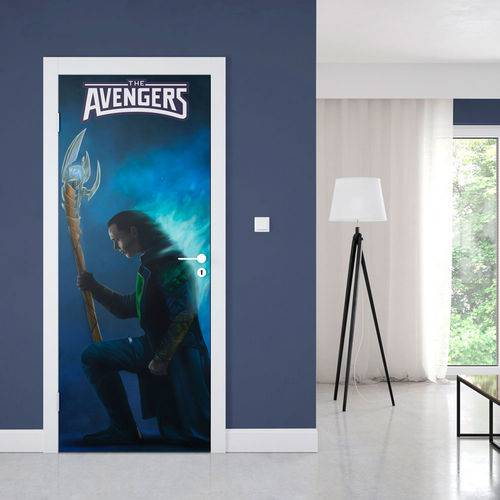 Adesivo de Porta Avengers Loki