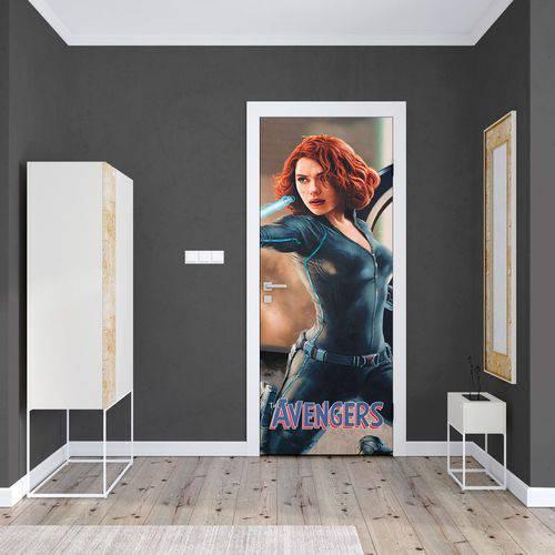 Adesivo de Porta Avengers Viúva Negra