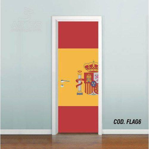 Adesivo de Porta Bandeira Espanha