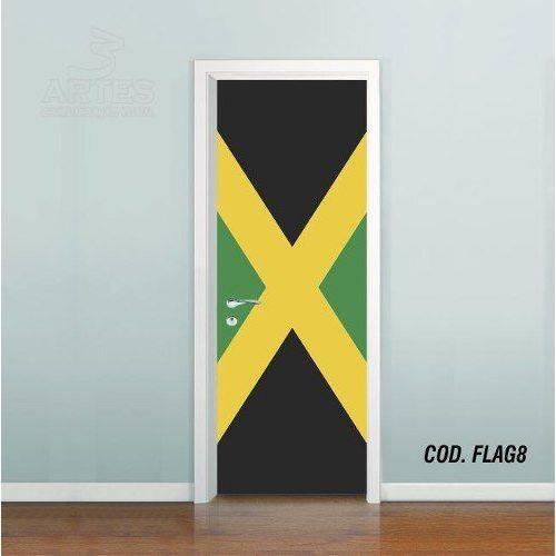Adesivo de Porta Bandeira Jamaica