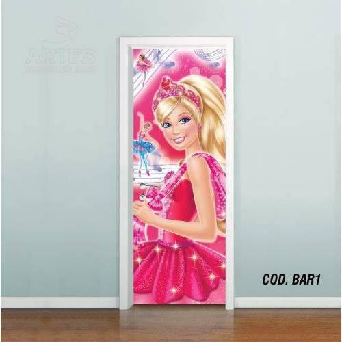 Adesivo de Porta Barbie Sapatilhas Magica #01