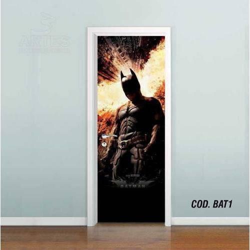 Adesivo de Porta Batman Gotham #01