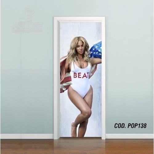 Adesivo de Porta Beyoncé Knowles #01