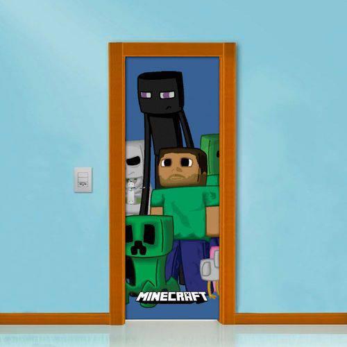 Adesivo de Porta Boneco Minecraft Verde