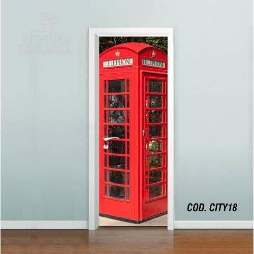 Adesivo de Porta Cidade Londres #03