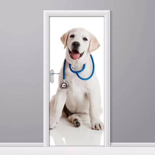 Adesivo de Porta Doutor Cachorro