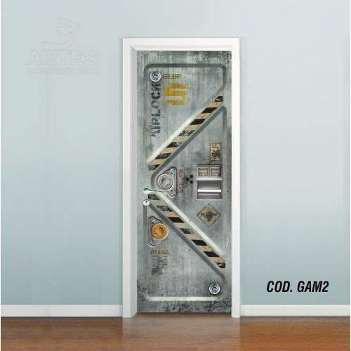 Adesivo de Porta Metal Core Videogame