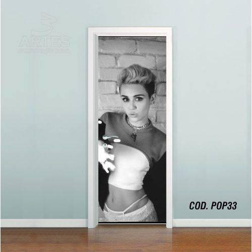 Adesivo de Porta Miley Cyrus #05