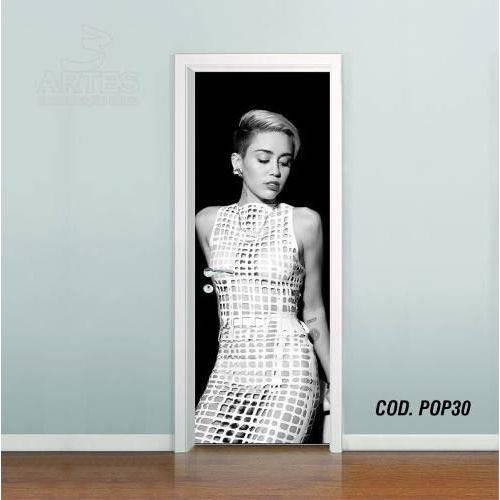 Adesivo de Porta Miley Cyrus #02