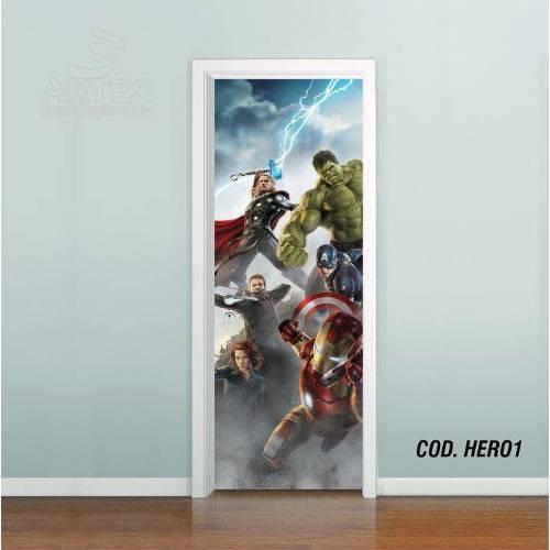 Adesivo de Porta os Vingadores Avengers