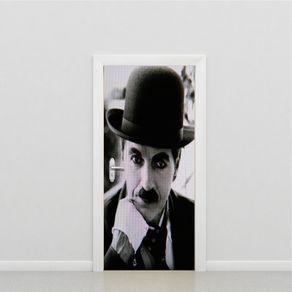 Adesivo de Porta Quarto Chaplin PO517028