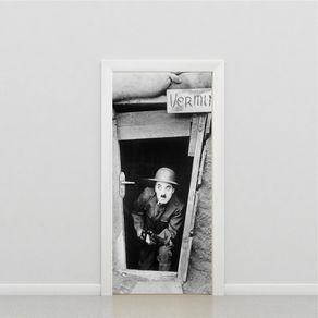 Adesivo de Porta Sala Charles Chaplin PO517030