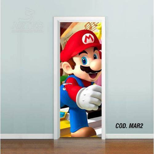 Adesivo de Porta Super Mario Bross #02