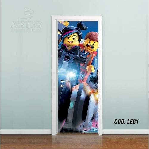 Adesivo de Porta uma Aventura LEGO #01