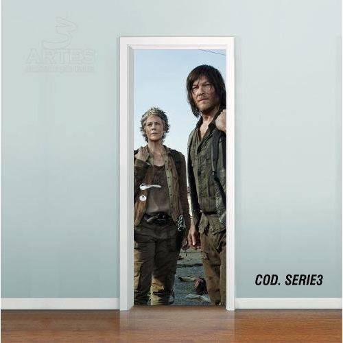 Adesivo de Porta Walking Dead Carol