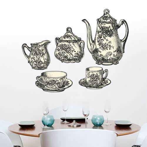 Adesivo Decorativo de Cozinha - Jogo de Chá - N1207