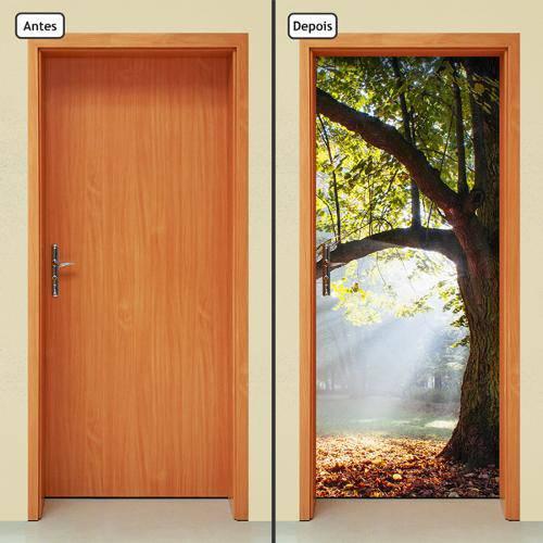 Adesivo Decorativo de Porta - Árvore - 367cnpt