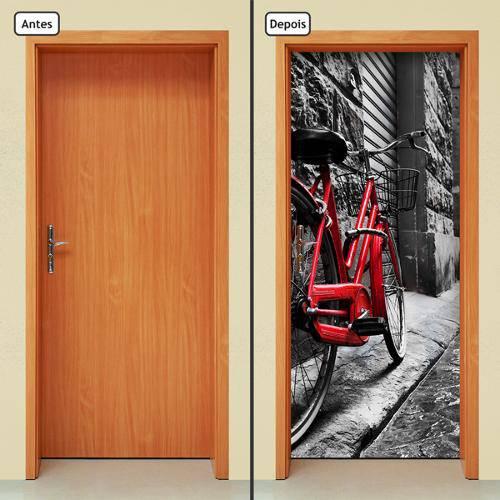 Adesivo Decorativo de Porta - Bicicleta - 417cnpt